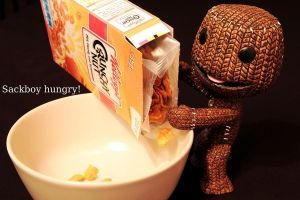 Sackboy Hungry by orkomedix
