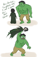Hulk doesn't care, Loki. by Shubbabang
