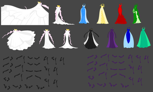 SSMU Dress Template NEW by ParamourPhoenix