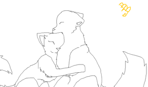 .:Free Hugging Cat Lineart:. by xBananaBoatx