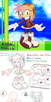 How I draw Amy Rose: Anatomy and Proportions by koda-soda