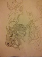 Darksiders Pencil Sketch by xanthian41691