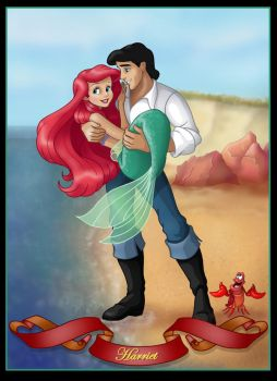 ariel and eric  -  commission by nightwing1975