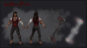 Wolfman Draven Concept Sheet by Dargonite
