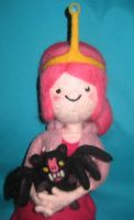Needle Felted Plush Princess Bubblegum n Batceline by CatsFeltLings