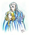 Galadriel and Celeborn by IChiTa--WiYa