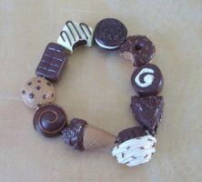 Chocoholic bracelet by PORGEcreations