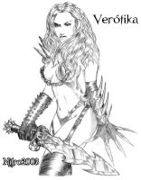 Female Warrior - Guerreira by newtonrocha