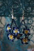 earrings: springy thingy by Margotka