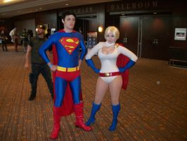 AF '11 - Superman n Power Girl by TexConChaser