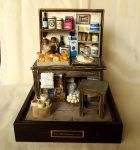 Vintage Small old Bakery- Baking bread by dollhouseara