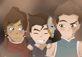 Avatar: Korra, Mako Switching clothes with Bolin. by xLadyKim