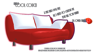 [MMDL] Red Couch DL by AleNor1