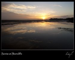 Sunrise at Shorncliffe by 2Stupid2Duck