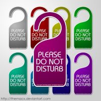 Please Do Not Disturb Tags by themacx