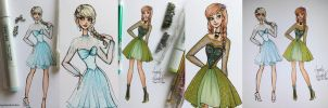 Frozen Fashion (Details) by angelaaasketches