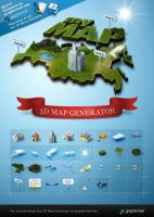 3d Map Generator - Photoshop Actions by templay-team