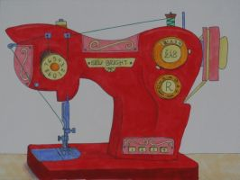 Sewing Machine Pony by WhiteHeather