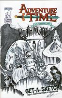 Adventure Time Black n White by johnnyism