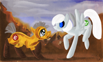Wall-E and Eve Ponified by ValkyrieSkies
