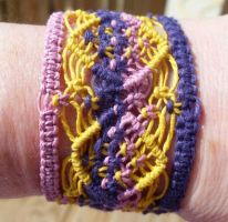 wide hemp cuff by HempLady4u