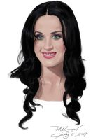 Drawing:Katy Perry by ravenchelsea