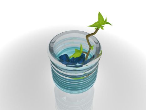 Plant in the vase. by first-synn