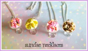 Sundae Necklaces by softbluecries
