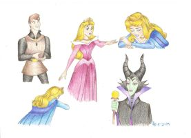 Sleeping Beauty Collage by novemberstar88