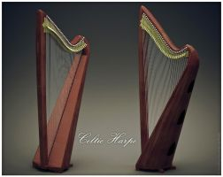3D Harp Celtic by ChristianConsoli