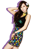 SNSD TTS Seohyun Glitter Silhouette Edit PNG 03 by xElaine