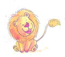 Happy Lion by Jauda