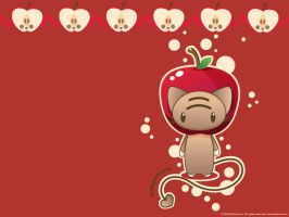 Apple Momocheet Wallpaper by lafhaha