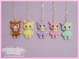 Pastel alpaca necklace new by Irudisu