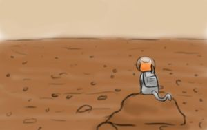 Cat on Mars by BrookRiver