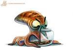 Daily Paint #986. Octopus vs. Cookie Jar (OA) by Cryptid-Creations