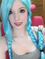 Jinx makeup hair test by gemieee