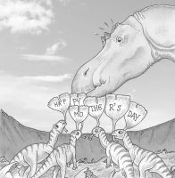 Maiasaura's Mother's day by alexine-pankhurst