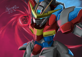 Gundam build fighters try: try burning gundam by chits101