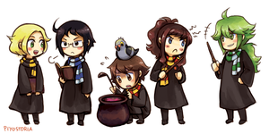 Trainers in Hogwarts by piyostoria