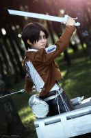 Levi attack on Titan by ZhanZao