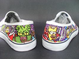 Futurama The Simpsons Crossover Shoes - back by rachelliles352