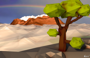 Low-Poly Landscape N7 - Clouds by OpenGoo