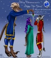 Under the Mistletoe Christmas Card 2013 by Gneiss-chert