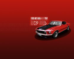 ford mustang mach 1 1969 - wp by visceralNL