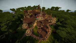 Minecraft: Town Overview (TheRoleplayWorld) by GamerPeons