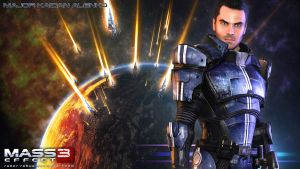 Mass Effect Wallpaper - Kaidan Alenko by razor-rebus