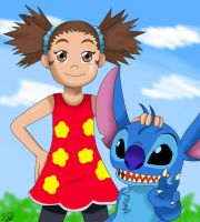 Yuna and Stitch by ss2sonic