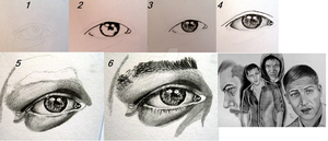 How I draw eyes step by step. by Thessa-drawings