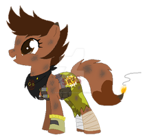 Shelly Fox as Junkrat pony by SuperRosey16